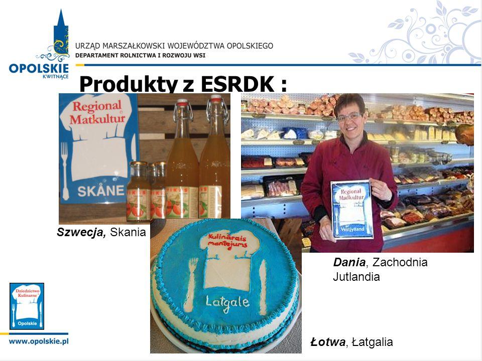 Produkty z ESRDK : Szwecja, Skania Dania, Zachodnia Jutlandia Łotwa, Łatgalia