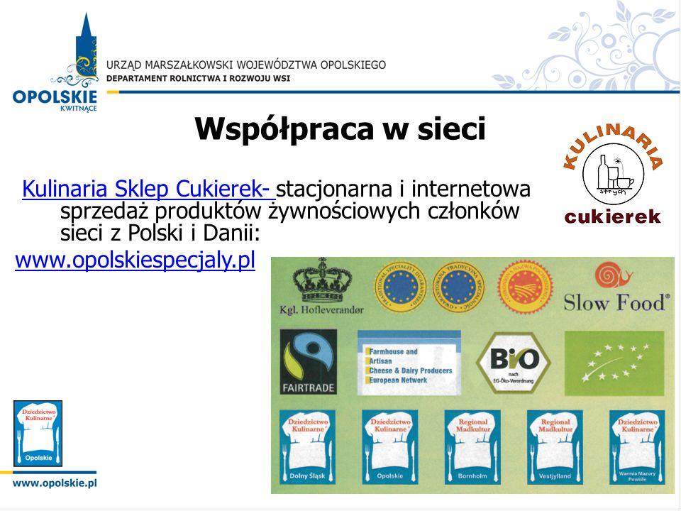Współpraca w sieci Kulinaria Sklep Cukierek- stacjonarna i internetowa sprzedaż produktów żywnościowych członków sieci z Polski i Danii:Kulinaria Skle