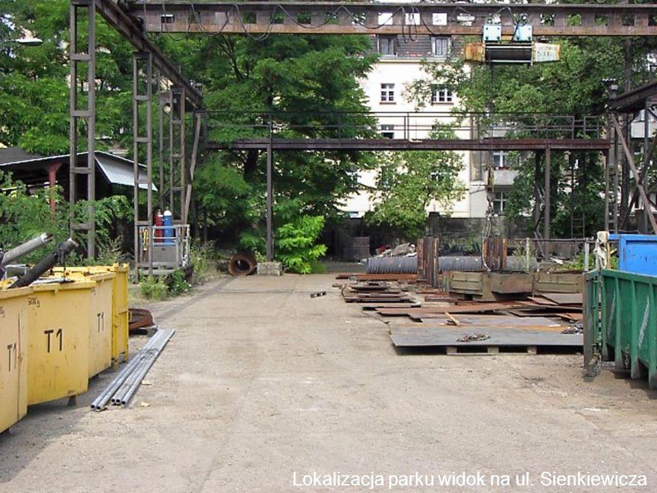 Lokalizacja parku widok na ul. Kraszewskiego