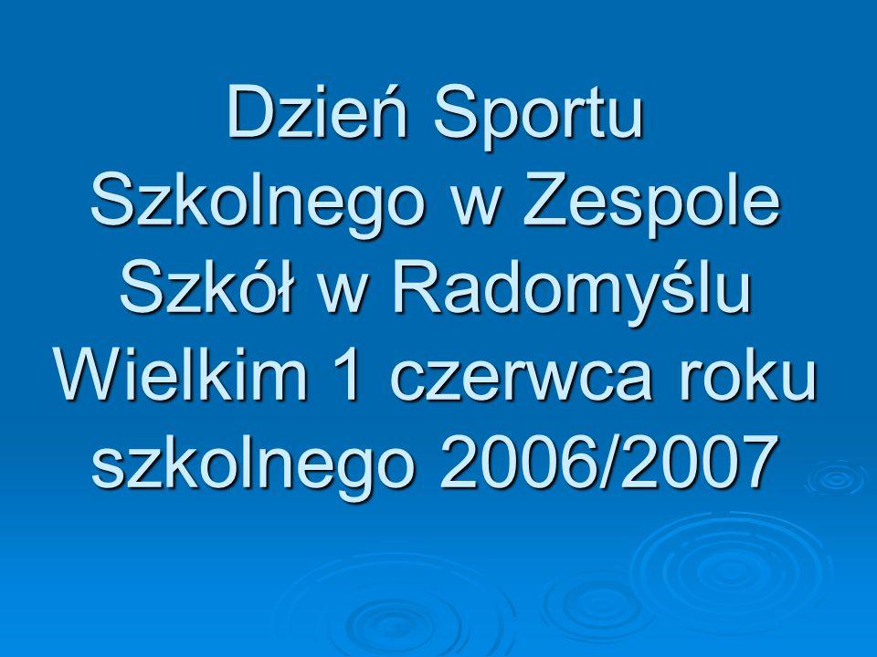 Dzień Sportu Szkolnego w Zespole Szkół w Radomyślu Wielkim 1 czerwca roku szkolnego 2006/2007