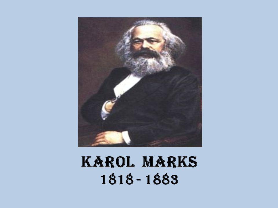 """ŻYCIORYS właściwie Karl Heinrich Marx niemiecki filozof, ekonomista, publicysta i działacz polityczny urodził się w Trewirze, w rodzinie niemieckiej pochodzenia żydowskiego studiował prawo i filozofię w Bonn i w Berlinie redaktor """"Gazety Reńskiej w Kolonii 1843r."""
