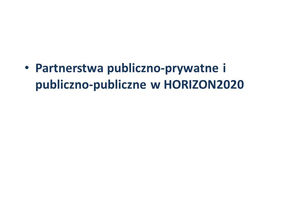 Partnerstwa publiczno-prywatne i publiczno-publiczne w HORIZON2020
