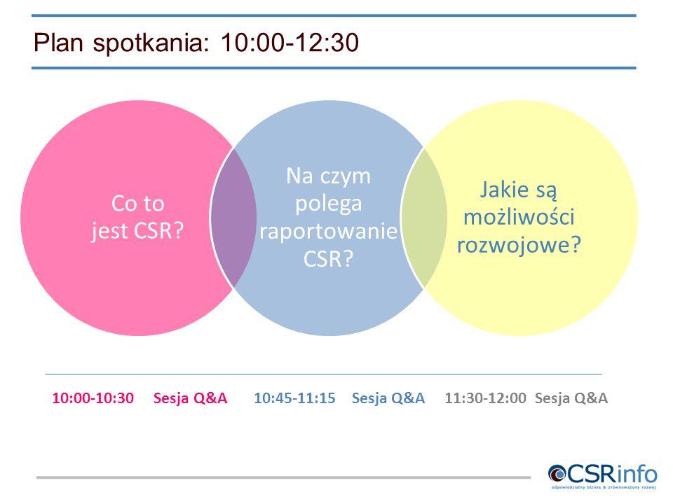 Plan spotkania: 10:00-12:30 10:00-10:30 Sesja Q&A 10:45-11:15 Sesja Q&A 11:30-12:00 Sesja Q&A