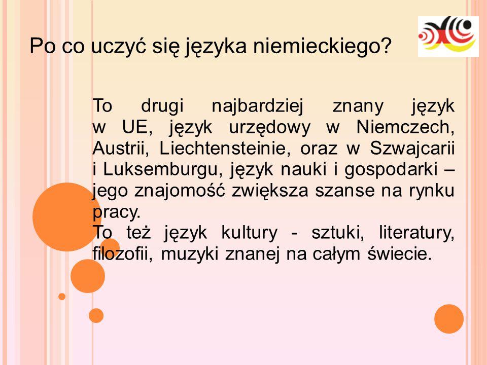 10-1-25 Po co uczyć się języka niemieckiego? To drugi najbardziej znany język w UE, język urzędowy w Niemczech, Austrii, Liechtensteinie, oraz w Szwaj