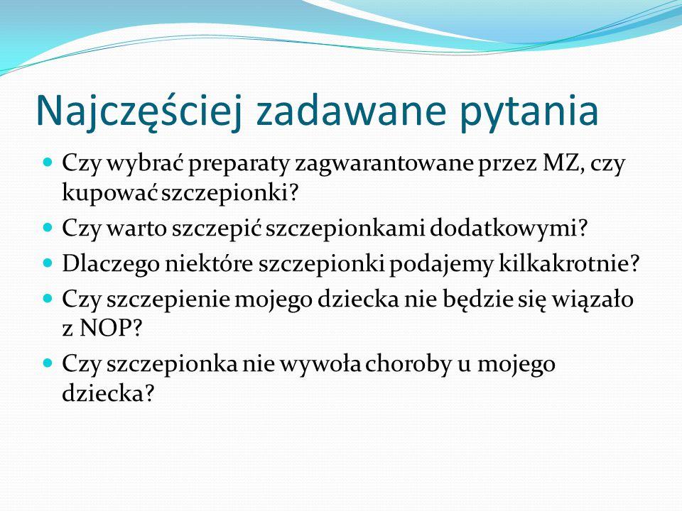 Najczęściej zadawane pytania Czy wybrać preparaty zagwarantowane przez MZ, czy kupować szczepionki.