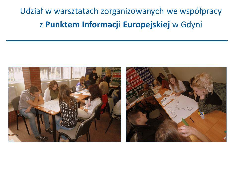 Udział w warsztatach zorganizowanych we współpracy z Punktem Informacji Europejskiej w Gdyni