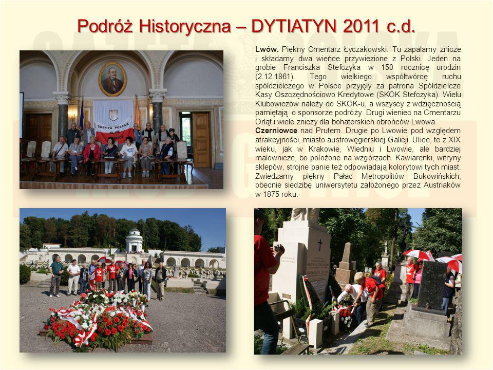 Lwów. Piękny Cmentarz Łyczakowski. Tu zapalamy znicze i składamy dwa wieńce przywiezione z Polski. Jeden na grobie Franciszka Stefczyka w 150 rocznicę