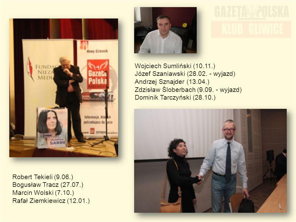 Wojciech Sumliński (10.11.) Józef Szaniawski (28.02. - wyjazd) Andrzej Sznajder (13.04.) Zdzisław Śloberbach (9.09. - wyjazd) Dominik Tarczyński (28.1