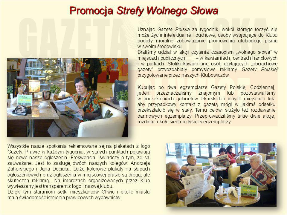 Uznając Gazetę Polską za tygodnik, wokół którego toczyć się może życie intelektualne i duchowe, osoby wstępujące do Klubu podjęły moralne zobowiązanie