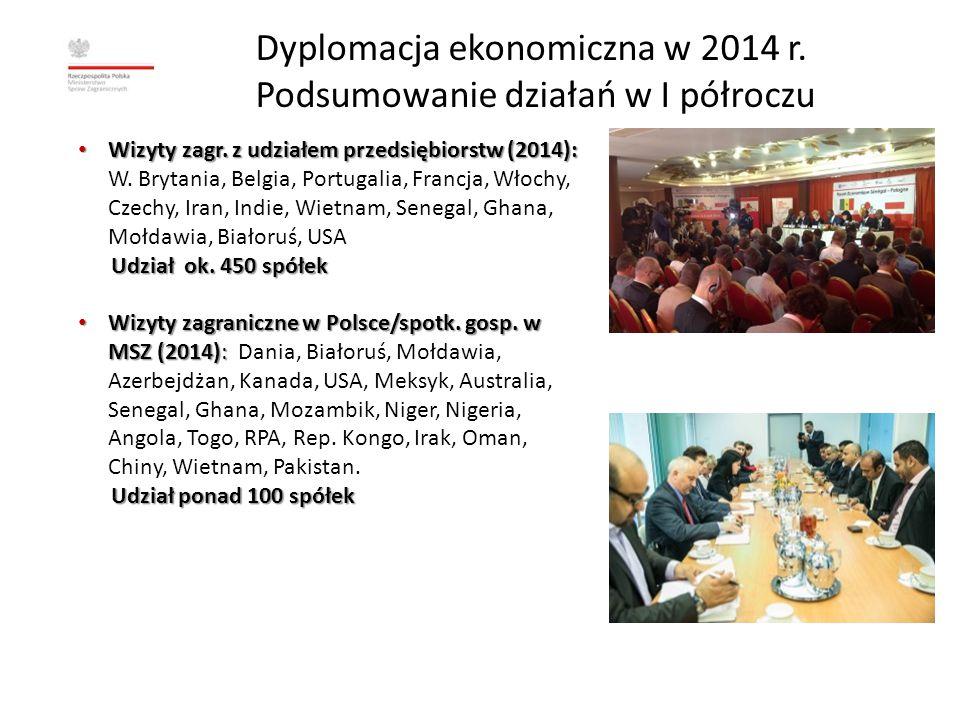 Dyplomacja ekonomiczna w 2014 r.