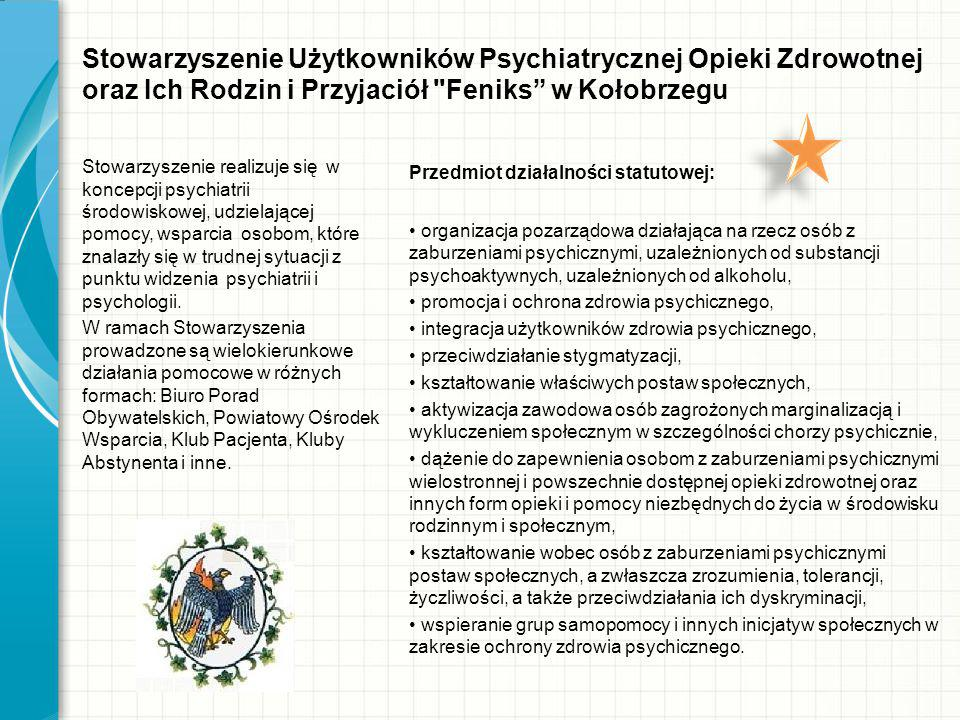 Stowarzyszenie Użytkowników Psychiatrycznej Opieki Zdrowotnej oraz Ich Rodzin i Przyjaciół