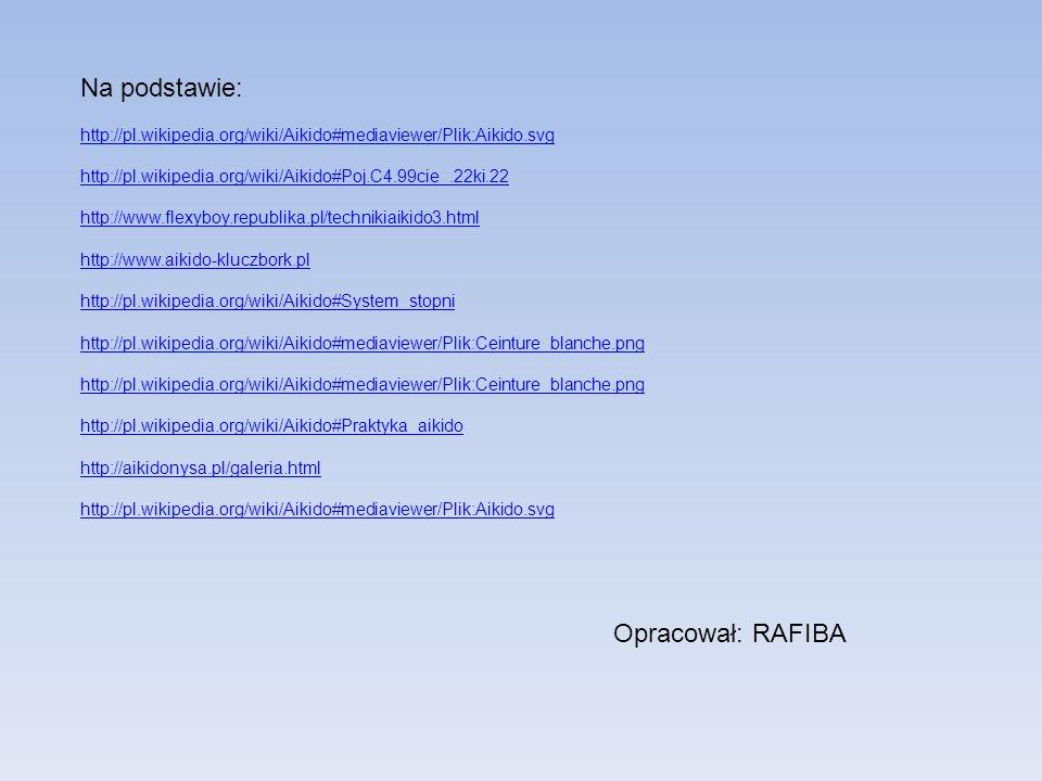 Opracował: RAFIBA Na podstawie: http://pl.wikipedia.org/wiki/Aikido#mediaviewer/Plik:Aikido.svg http://pl.wikipedia.org/wiki/Aikido#Poj.C4.99cie_.22ki