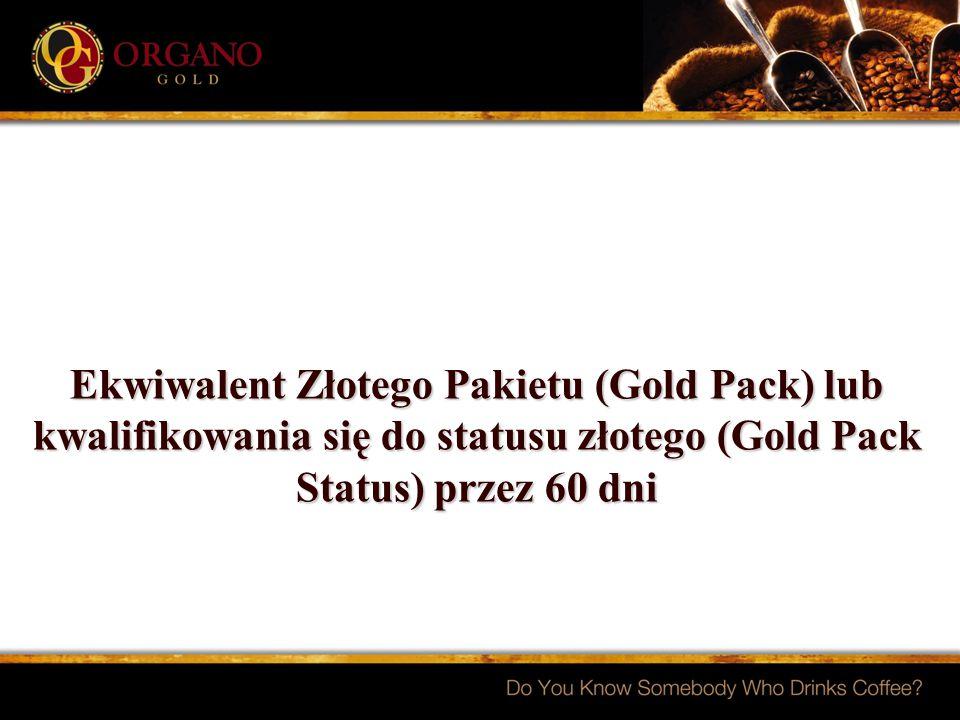 Ekwiwalent Złotego Pakietu (Gold Pack) lub kwalifikowania się do statusu złotego (Gold Pack Status) przez 60 dni