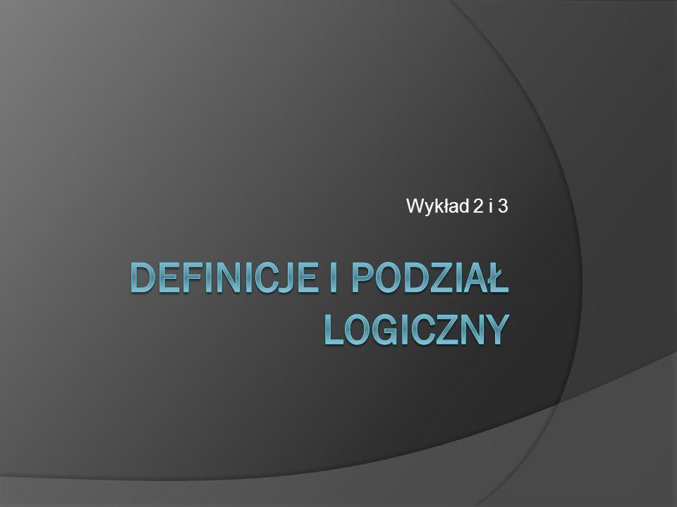 Podział logiczny – sposoby przeprowadzania  Według cech kontradyktorycznych  Według zasady specyfikacyjnej - determinanda - determinanty