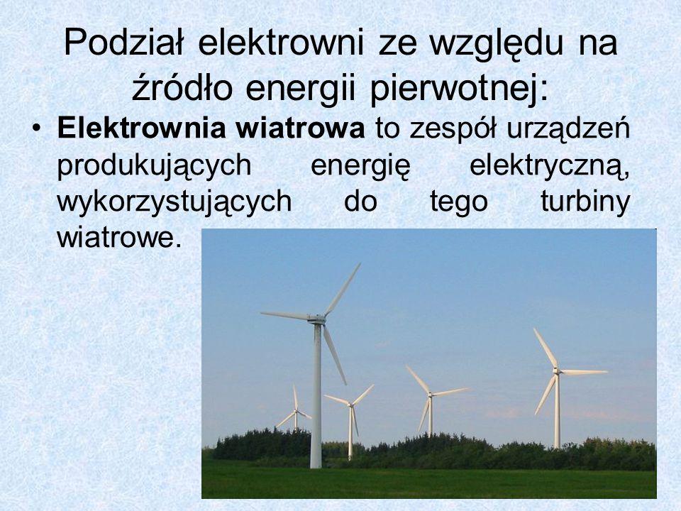Podział elektrowni ze względu na źródło energii pierwotnej: Elektrownia geotermiczna, inaczej geoelektrownia.
