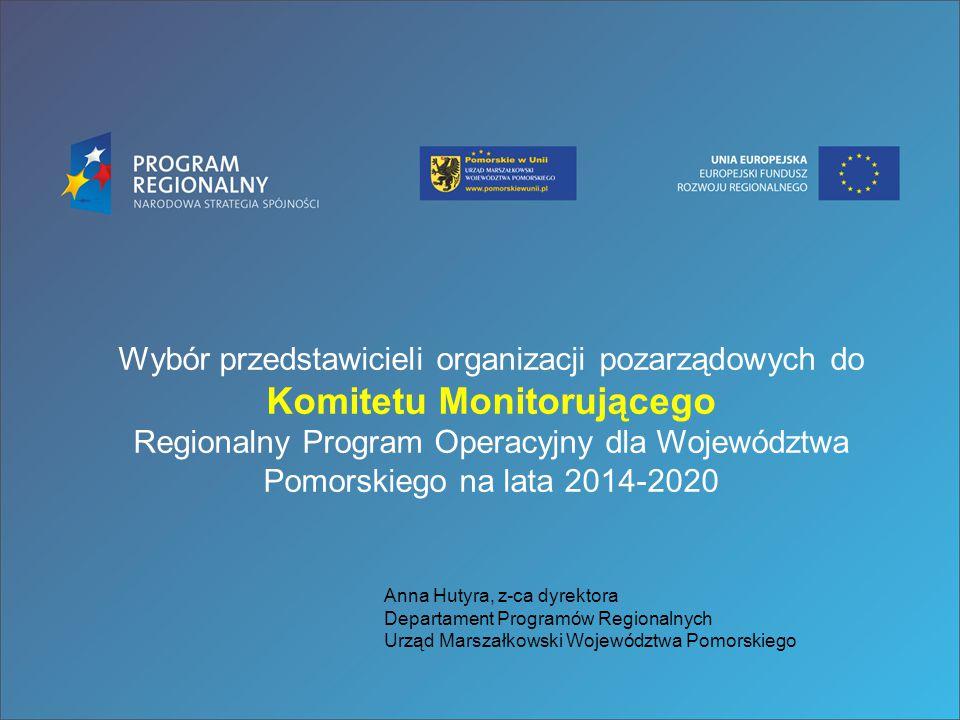 Wybór przedstawicieli organizacji pozarządowych do Komitetu Monitorującego Regionalny Program Operacyjny dla Województwa Pomorskiego na lata 2014-2020
