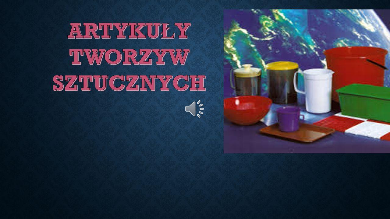NAJCZĘŚCIEJ SPOTYKANYMI TWORZYWAMI SZTUCZNYMI SĄ MIEDZY INNYMI :  nylon  polietylen  teflon  polichlorek winylu  polipropylen  polistyren