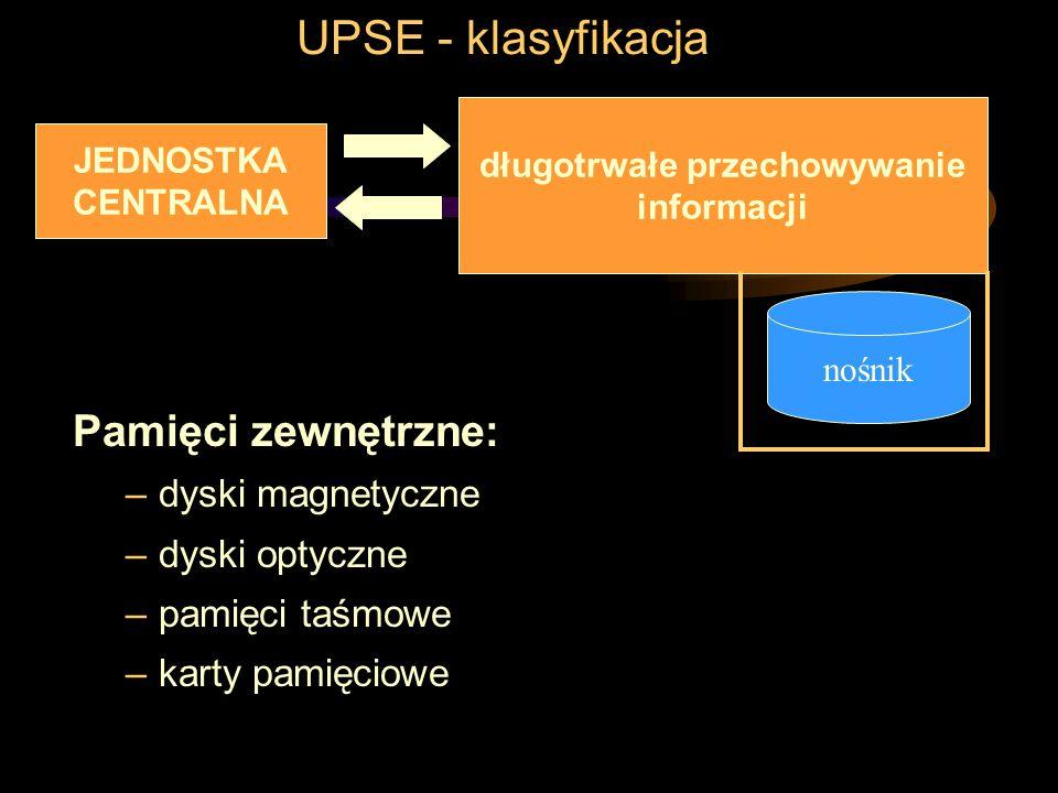 UPSE - klasyfikacja Urządzenia komunikacyjne: przesyłanie danych za pomocą medium transmisyjnego nadawanie, odbiór i przetwarzanie informacji –np. kar