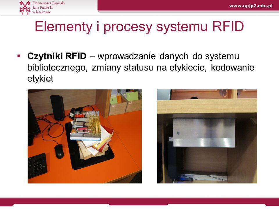 Mobilne urządzenie RFID – kontrola i zarządzanie zbiorami  Kontrola poprawności ułożenia zbiorów - sprawdzenie poprawności ustawienia (kolejności) książek na półce
