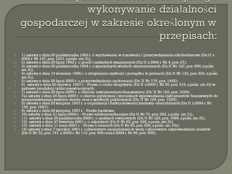  1) ustawy z dnia 26 pa ź dziernika 1982 r.