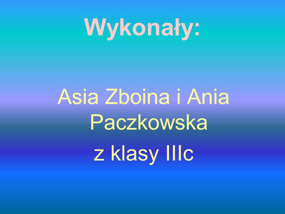 Wykonały: Asia Zboina i Ania Paczkowska z klasy IIIc