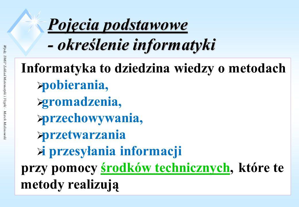 """Wydz. BMiP Zakład Matematyki i Fizyki - Marek Malinowski """"Im większą mamy wiedzę podstawową, tym lepiej jesteśmy przygotowani do tworzenia nowatorskic"""