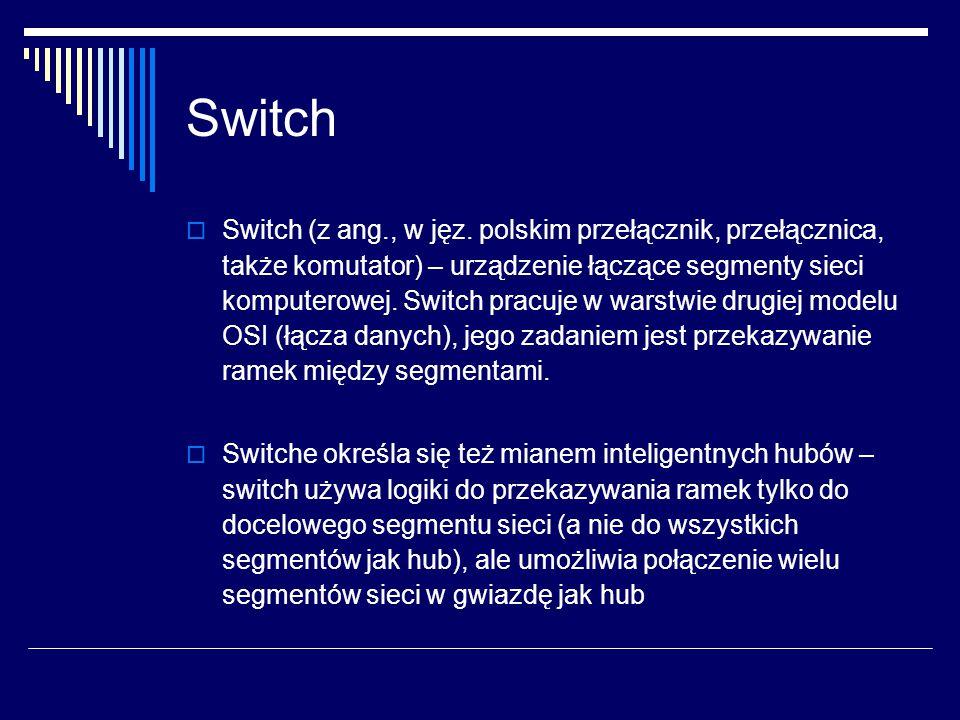 Switch  Switch (z ang., w jęz.