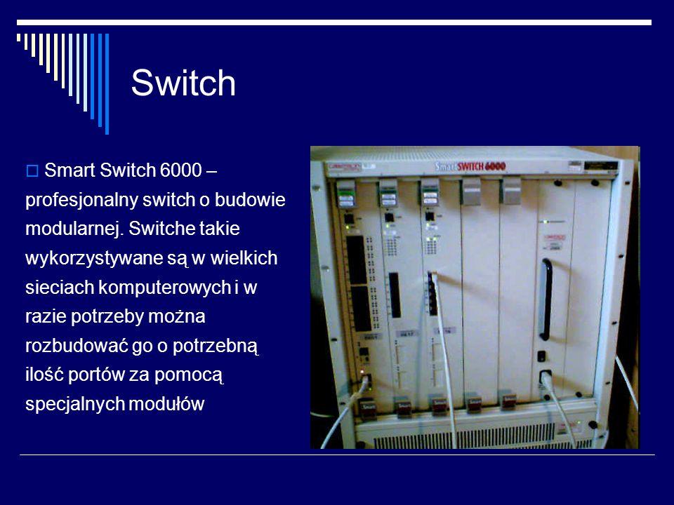 Switch  Smart Switch 6000 – profesjonalny switch o budowie modularnej.