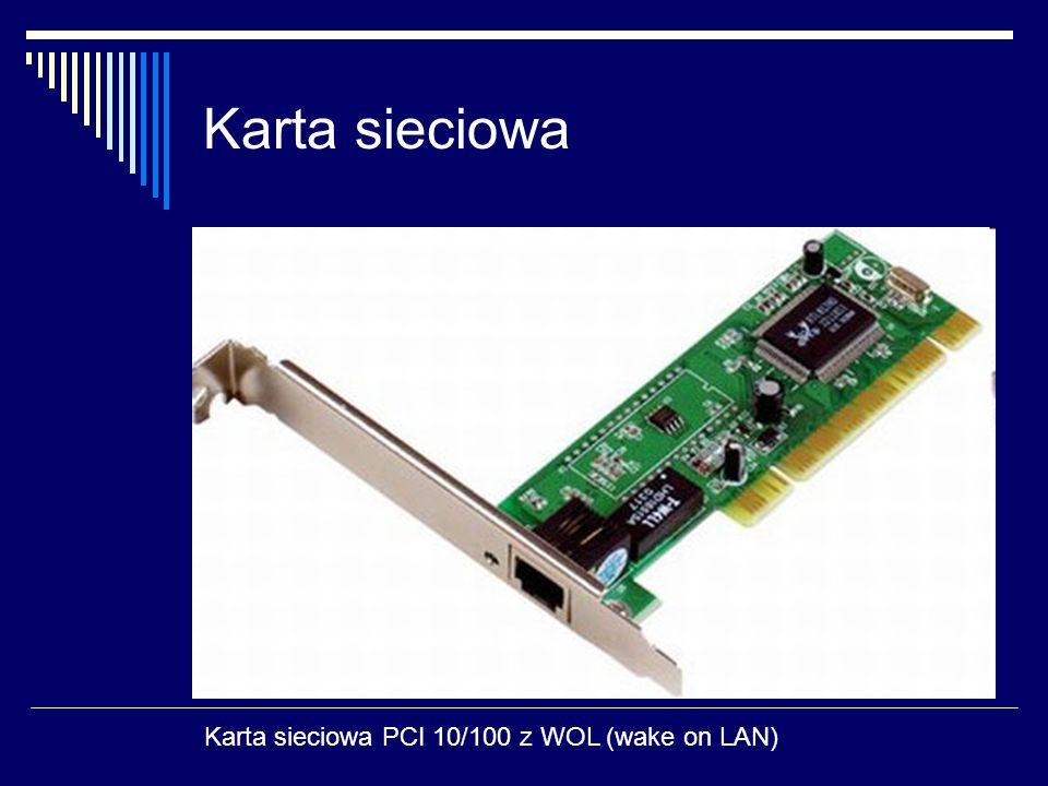 Karta sieciowa Karta sieciowa PCI 10/100 z WOL (wake on LAN)
