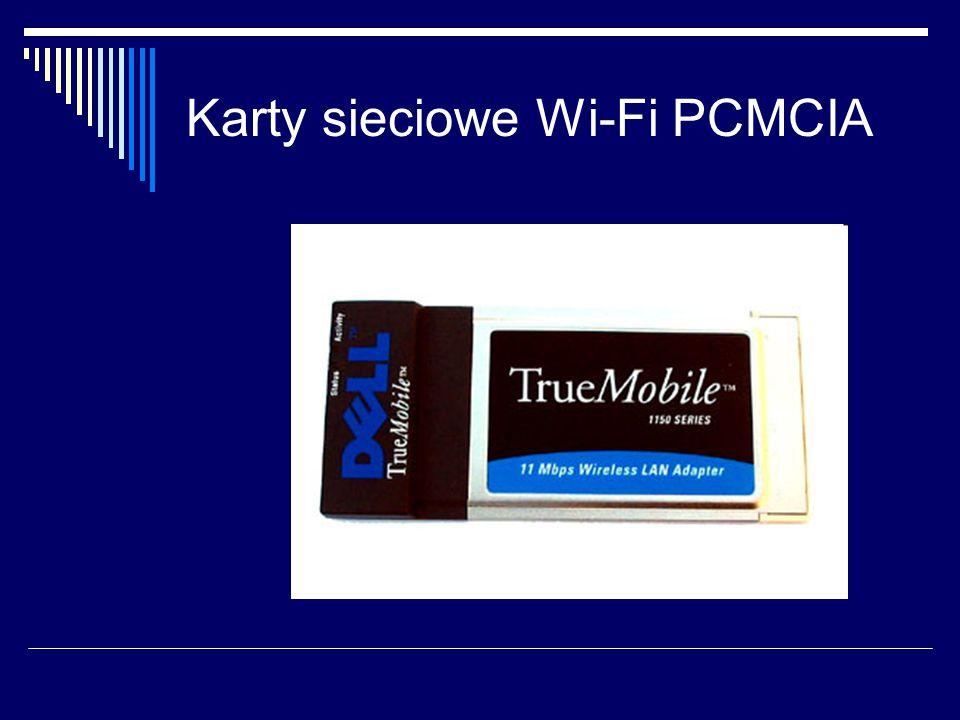 Karty sieciowe Wi-Fi PCMCIA