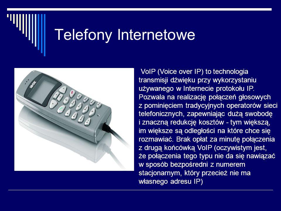 Telefony Internetowe VoIP (Voice over IP) to technologia transmisji dźwięku przy wykorzystaniu używanego w Internecie protokołu IP.