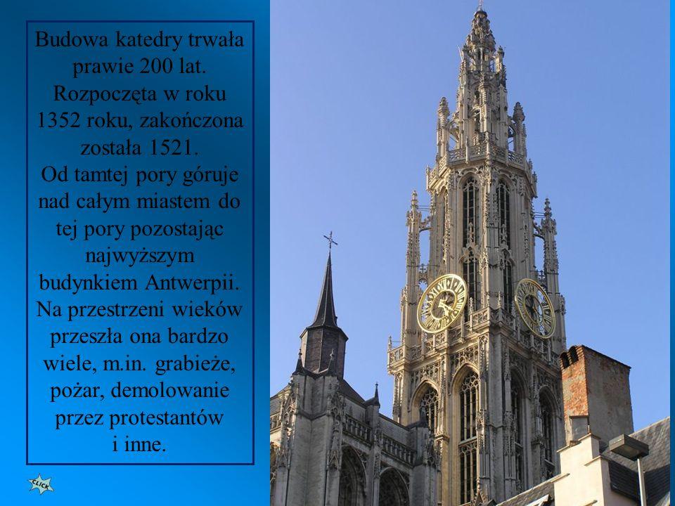 Peter Paul Rubens (1577-1640) malarz flamandzki. Pomnik obok katedry