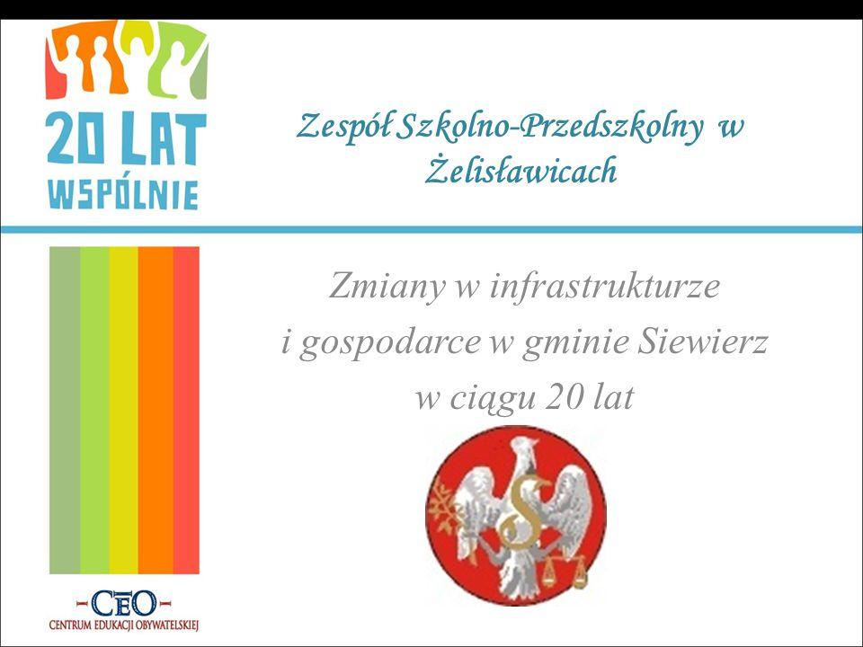 Zespół Szkolno-Przedszkolny w Żelisławicach Zmiany w infrastrukturze i gospodarce w gminie Siewierz w ciągu 20 lat