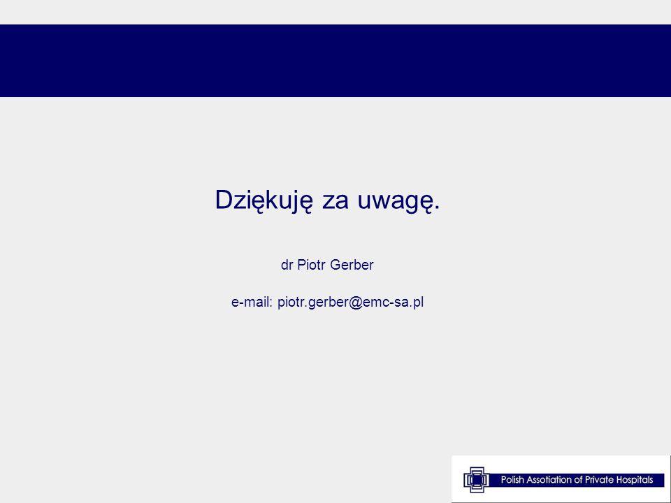 Dziękuję za uwagę. dr Piotr Gerber e-mail: piotr.gerber@emc-sa.pl