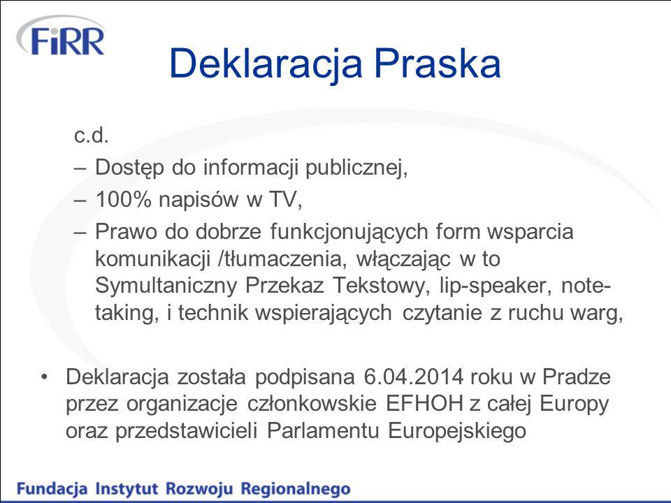 Deklaracja Praska c.d.