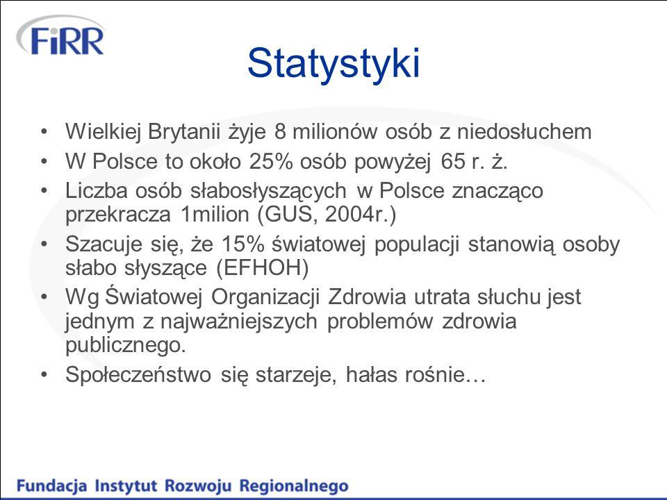 Statystyki Wielkiej Brytanii żyje 8 milionów osób z niedosłuchem W Polsce to około 25% osób powyżej 65 r.