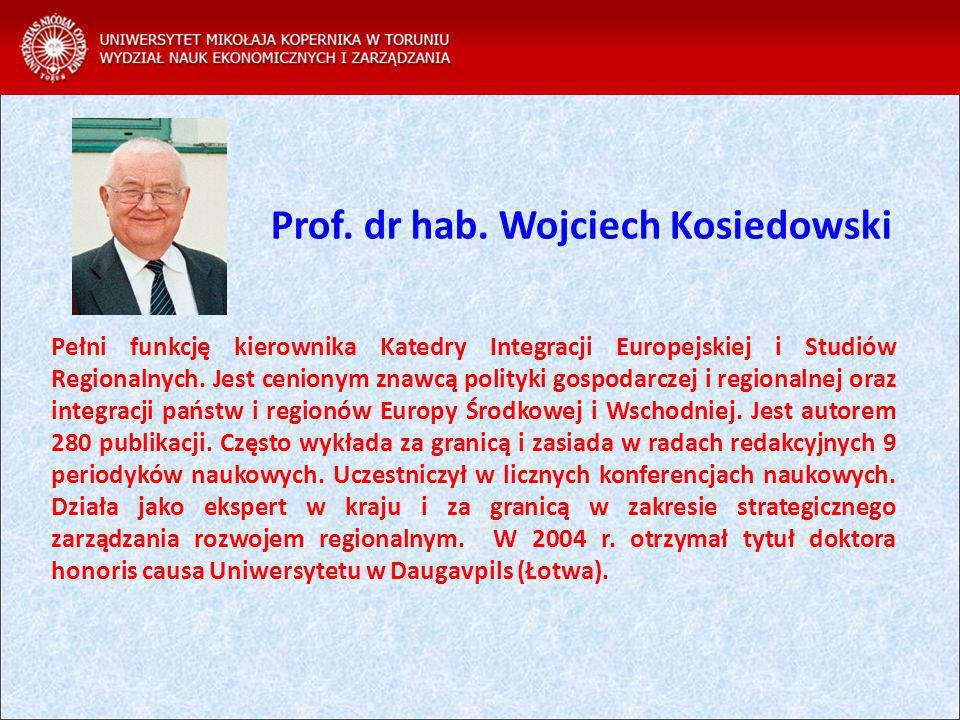 Pełni funkcję kierownika Katedry Integracji Europejskiej i Studiów Regionalnych.