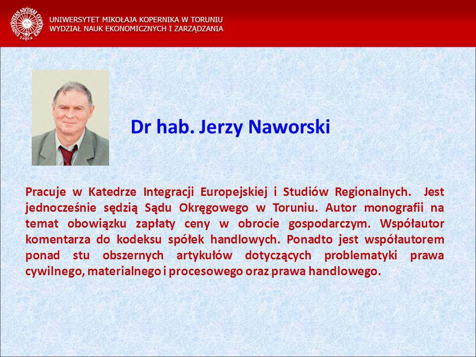 Pracuje w Katedrze Integracji Europejskiej i Studiów Regionalnych.