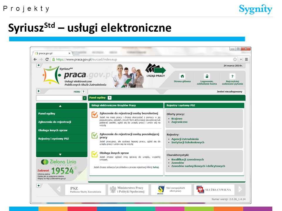 Projekty Syriusz Std – usługi elektroniczne