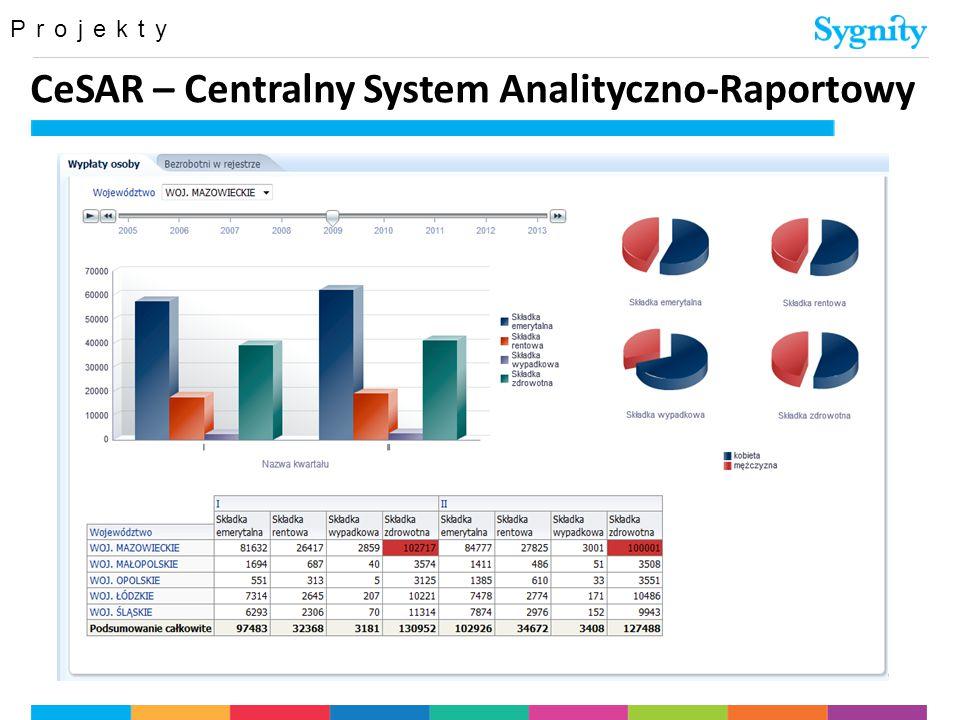 Projekty CeSAR – Centralny System Analityczno-Raportowy