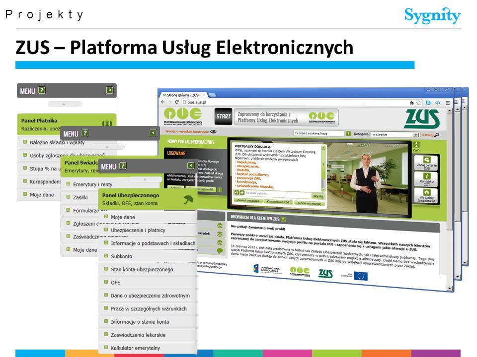 Projekty ZUS – Platforma Usług Elektronicznych