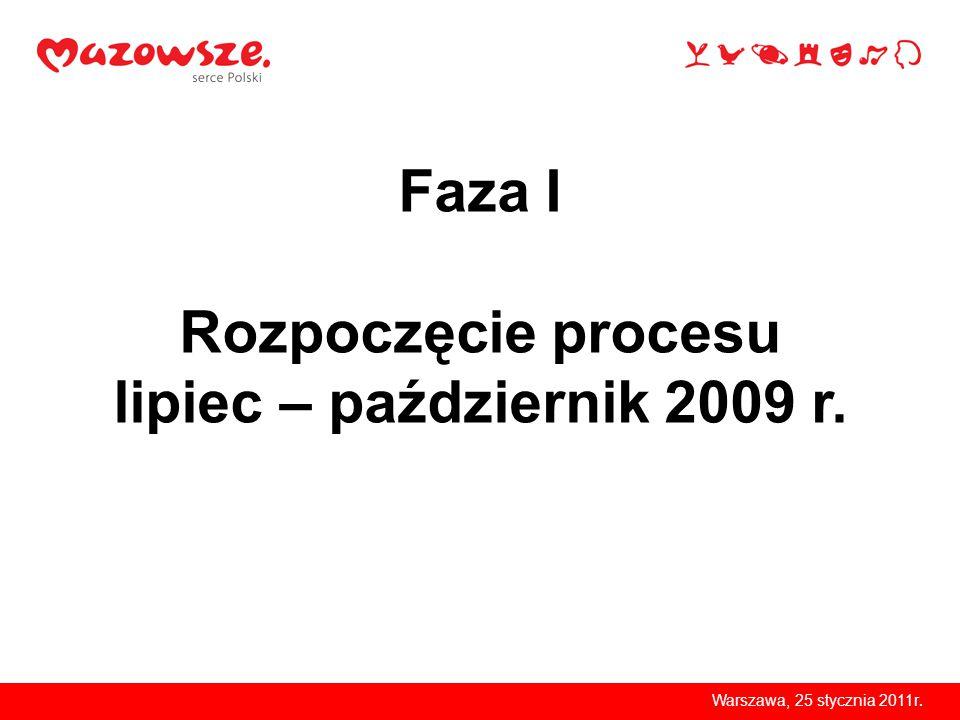 Warszawa, 25 stycznia 2011r. Faza I Rozpoczęcie procesu r.