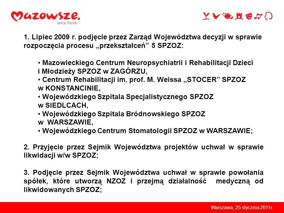 Warszawa, 25 stycznia 2011r.Mazowiecki Szpital Wojewódzki w Warszawie Sp.