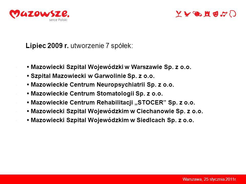 Warszawa, 25 stycznia 2011r. Mazowiecki Szpital Wojewódzki w Warszawie Sp.