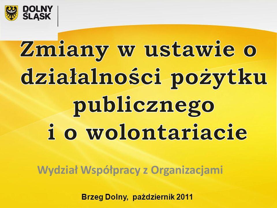 Brzeg Dolny, październik 2011 Wydział Współpracy z Organizacjami