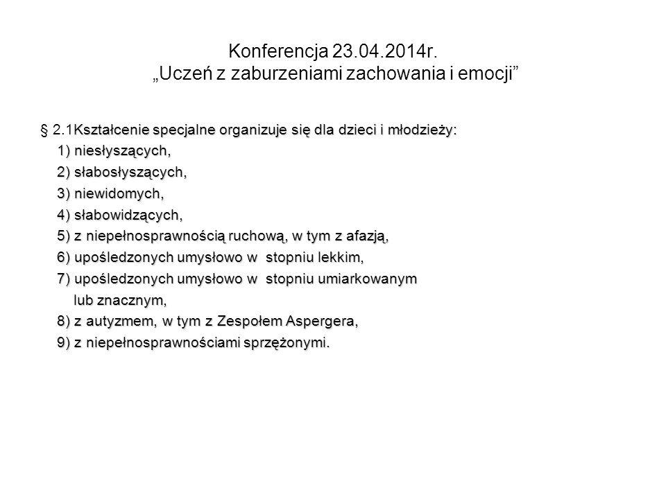 Konferencja 23.04.2014r.
