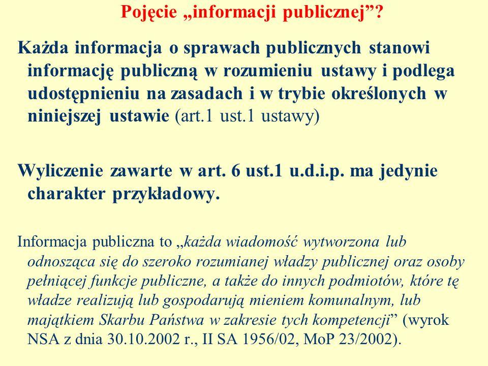 """Pojęcie """"informacji publicznej ."""