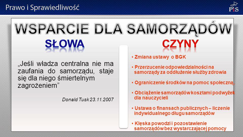 """""""Chciałbym, żebyśmy wrócili do prostej, niewymagającej żadnych nakładów idei, która jest oczywista (…) idei władzy skromnej, pozbawionej zbędnych przywilejów, idei taniego państwa Donald Tusk 23.11.2007 Wzrost wydatków na kancelarię prezydenta projekt budżetu na 2011 Wzrost wydatków na KRRiT projekt budżetu na 2011 Wzrost administracji"""