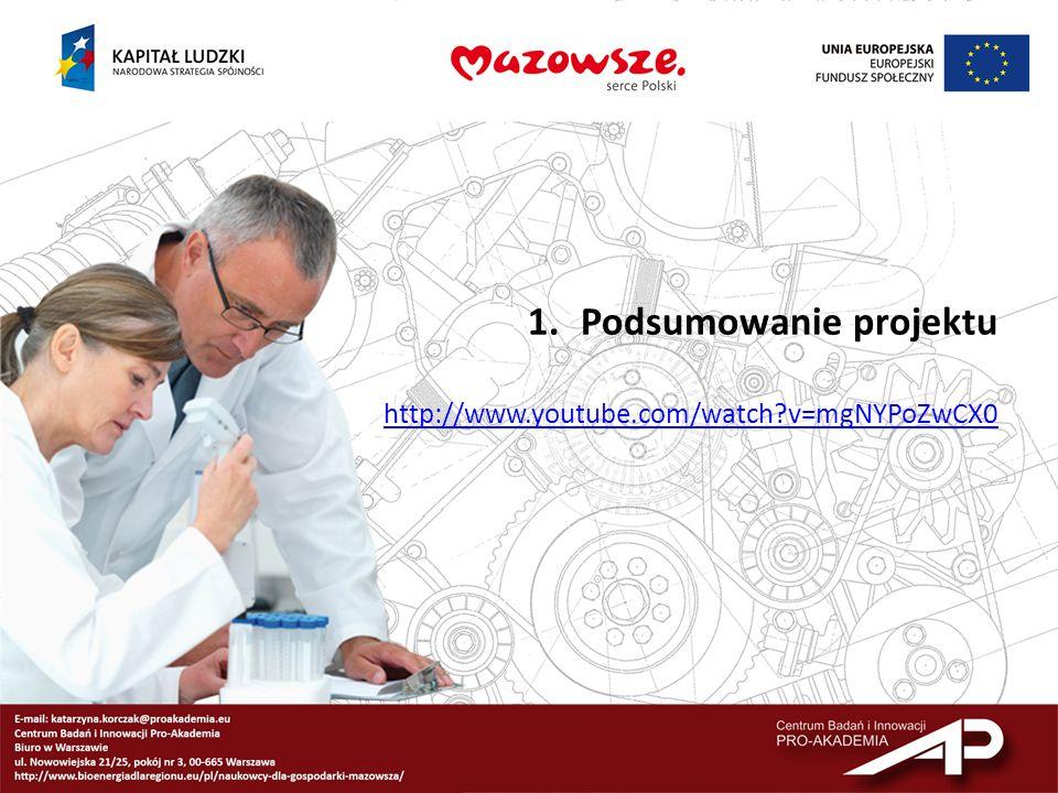 1.Podsumowanie projektu http://www.youtube.com/watch?v=mgNYPoZwCX0
