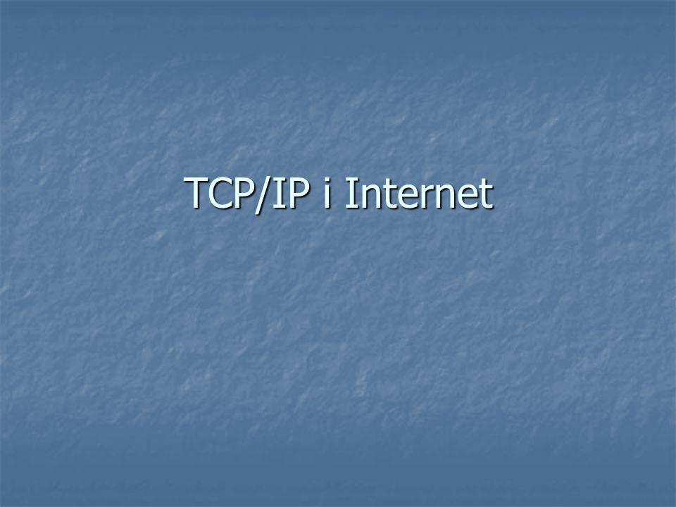 TCP/IP i Internet